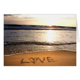 Love on the Beach Greeting Card