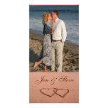 Love on the beach photo template