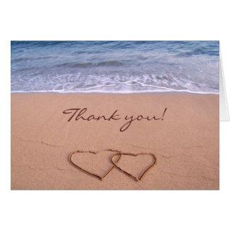 Love on the Beach Thank you Card