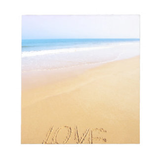 Love on the sand, photo notepad
