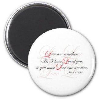 Love One Another 6 Cm Round Magnet