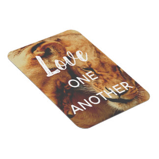 Love One Another | Motivational Lion Magnet