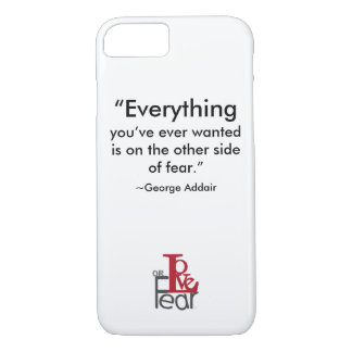 Love or Fear iPhone Typography iPhone 8/7 Case