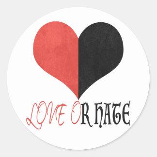 Love or Hate Classic Round Sticker
