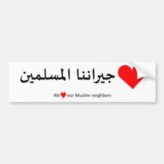 Love Our Muslim Neighbor Bumper Sticker