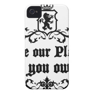 Love Our Planet Like You Own It Medieval quote iPhone 4 Case-Mate Case