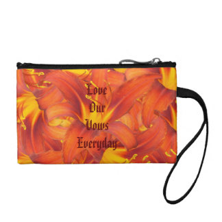 Love Our Vows Amber Lilies Coin Purse