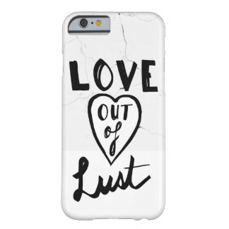 Love Out Of Lust Minimal Marble White Barely There iPhone 6 Case