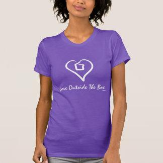 Love Outside The Box (white on dark) T-Shirt