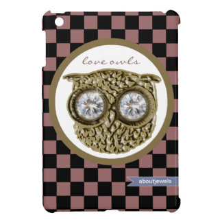 Love owl -  checkered patterns iPad mini covers