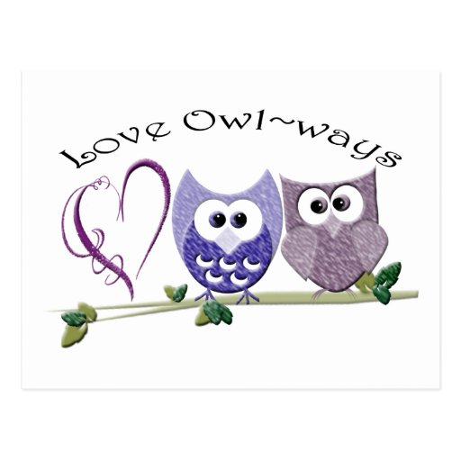 Love Owl~ways, cute Owls art gifts Postcards
