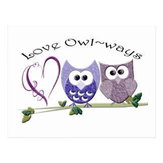 Love Owl~ways, cute Owls art gifts Postcards