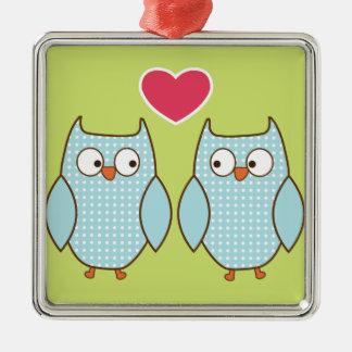 love owls christmas tree ornament