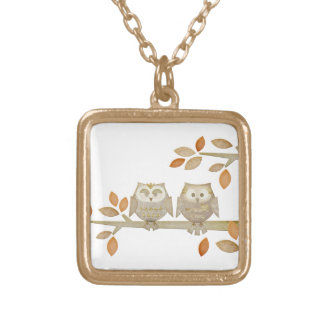 Love Owls in Tree Necklace