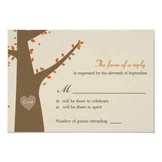 Love Owls Wedding RSVP / Response Card