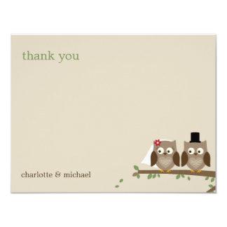 Love Owls Wedding Thank You Cards 11 Cm X 14 Cm Invitation Card