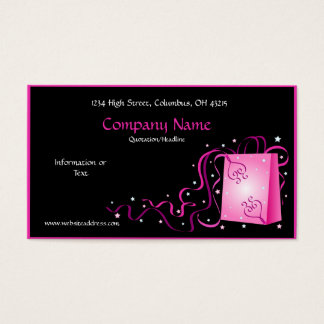 Love Package with Ribbons Business Card