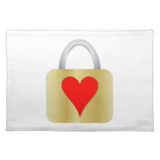 Love padlock placemat