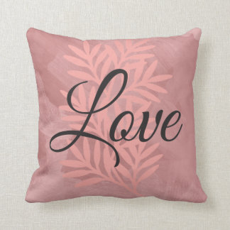 """Love"" Paint brushed Stroke Decorative Pillow"