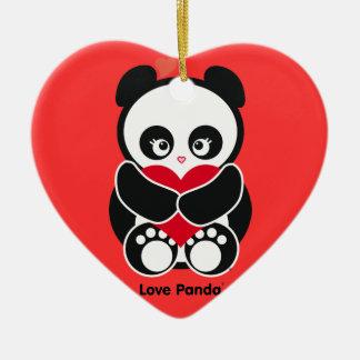 Love Panda® Ornament Ceramic Heart Ornament