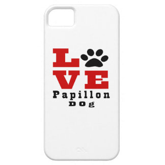Love Papillon Dog Designes iPhone 5 Cases
