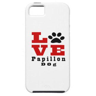 Love Papillon Dog Designes Tough iPhone 5 Case