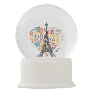 Love Paris | Adorable Eiffel Tower Snow Globe