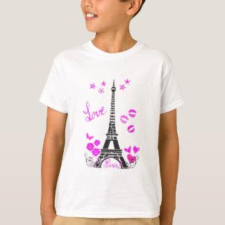 LOVE PARIS EIFFEL TOWER PRINT TSHIRTS
