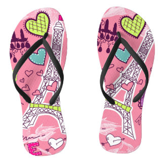 Love Paris France Pink Thongs