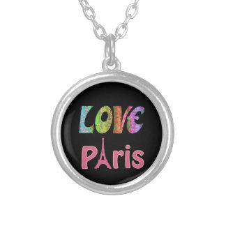 Love Paris Silver Plate Necklace