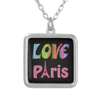 Love Paris Silver Plated Necklace