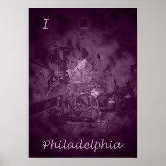 Love Park in Purple Rose (I Love Philadelphia) Poster