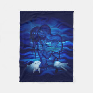 Love, Passion act - pair with Dolphin pair Fleece Blanket