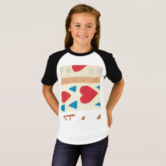 Love Path Girls' Short Sleeve Raglan T-Shirt