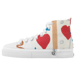 Love Path High Tops Printed Shoes