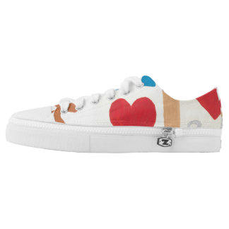 Love Path Low Tops Printed Shoes
