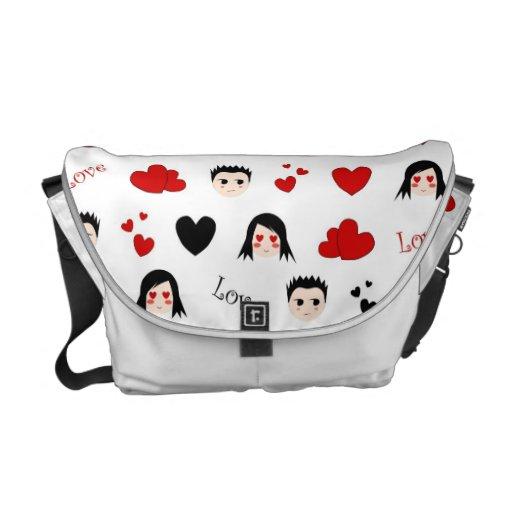 Love pattern - Rickshaw Messenger Bag