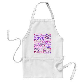 Love pattern standard apron
