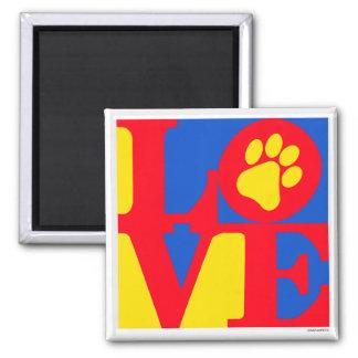 LOVE paw print Fridge Magnets