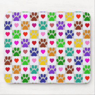 LOVE PAWS MOUSE PAD