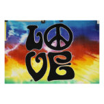 Love & Peace 60s Retro Poster