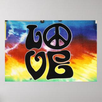 Love & Peace 60s Retro Poster