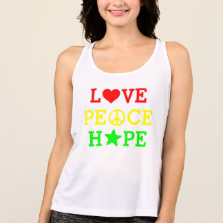 Love, Peace and Hope Multicolored Singlet