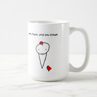 Love, Peace, and Ice Cream Coffee Mug