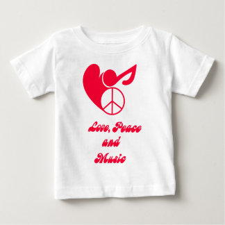 love, peace and music baby T-Shirt