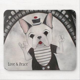 Love, Peace and Paris Mousepad