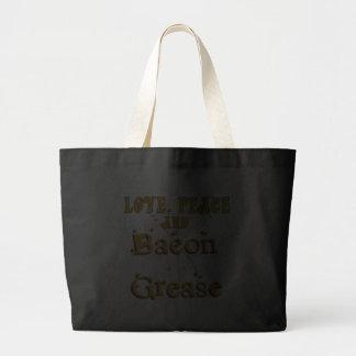 Love Peace & Bacon Grease Canvas Bag
