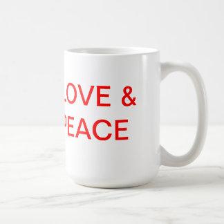 LOVE & PEACE BASIC WHITE MUG