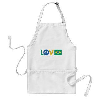 Love Peace Brazil Adult Apron