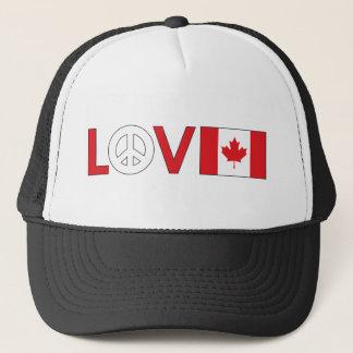 Love Peace Canada Trucker Hat